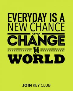 everyday is a new chance to change the world